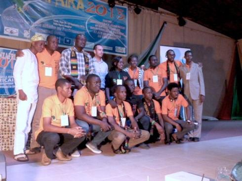 Les lauréats du concours et les membres du jury